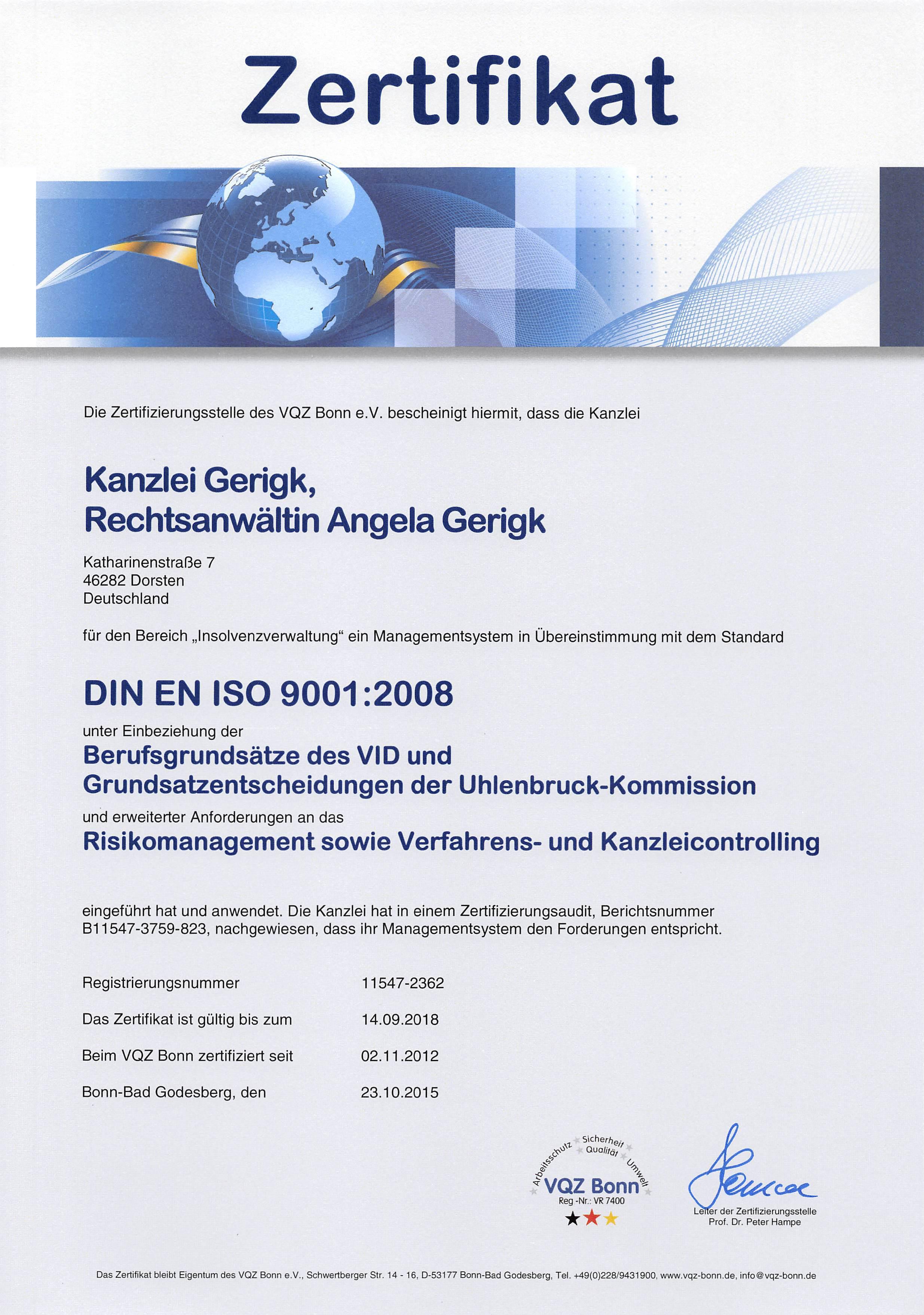 RECHTSANWÄLTIN ANGELA GERIGK | FACHANWÄLTIN FÜR STEUERRECHT